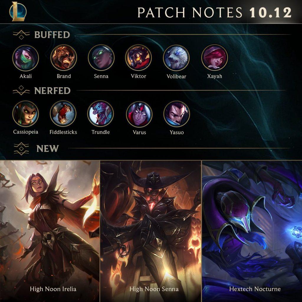 League of Legends Patch 10.12 Notes