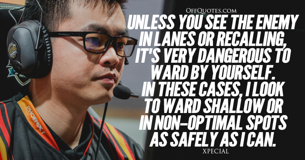 Unless you see the enemy in lanes or recalling, it's very dangerous to ward by yourself. In these cases I look to ward shallow or in non-optimal spots, as safely as I can