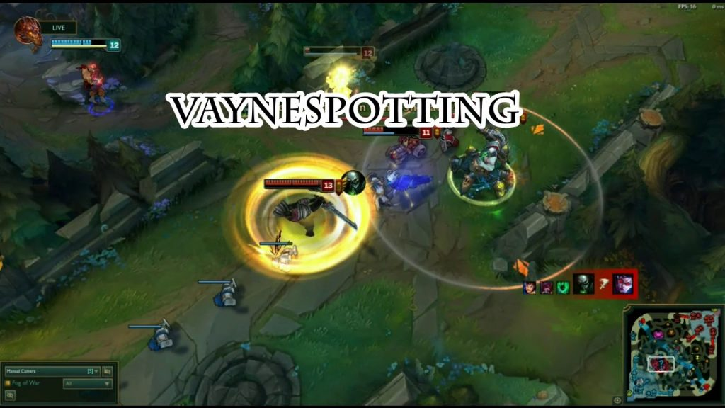 Vaynespotting is one of the oldest terms in League of Legends. It was one of the most popular terms back in Season 2 and 3, but it's still being used nowadays.