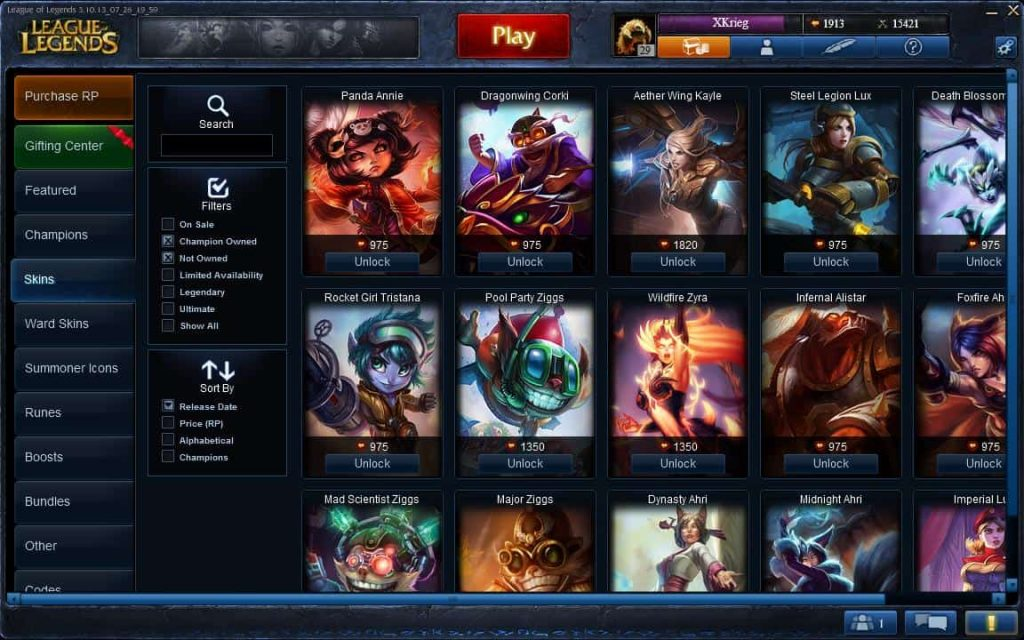 League of Legends Skins are not free. You're gonna have to open your wallet and put-in your credit card credentials if you want to get some cool skins.