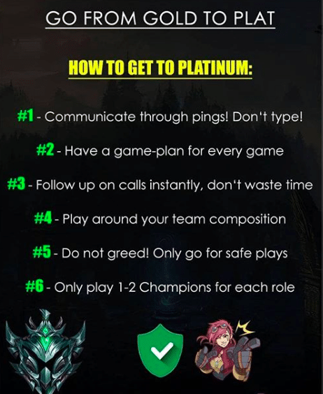 Platinum is where it starts to get serious. Not so many players are able to reach platinum or Diamond, but here's how you can easily get out of Platinum!