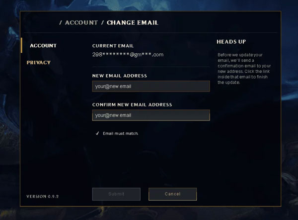 If for some reason you want to change your email, this is how you can easily change your email in League of Legends