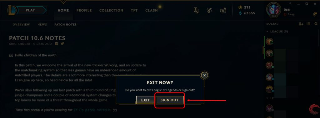 A lot of players that stopped playing League have returned this year, only to find a new confusing client. If you're one of those players, don't worry, you're not the only one with that problem. Here's how you can easily log out of League of Legends