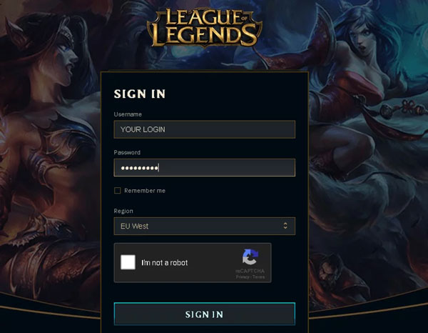 Changing email in League of Legends is very easy, here's how you can do it
