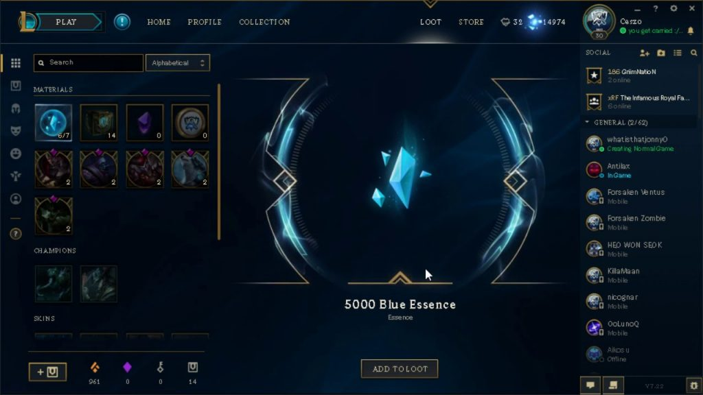 Blue Essence Farming – A Complete Guide