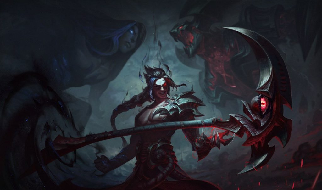 Kayn is usually played in the jungle, but he's very good as a top laner as well. Thanks to his E, he can easily gank mid lane from time to time without losing too much farm or XP