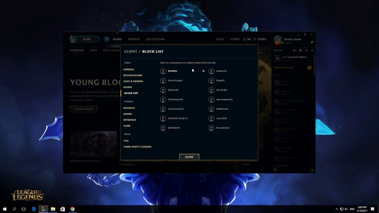 """Here are a couple of easy steps on how to unblock someone on League of Legends. Let's say that you've blocked your friend on """"accident"""", here's how you can unblock him"""