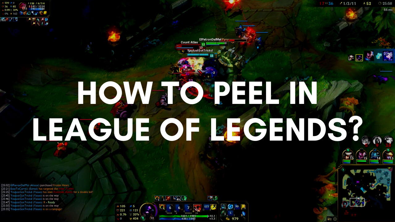 What is Peel and how to Peel in League of Legends? This quick tutorial will help you to become a true master of Peeling in League!