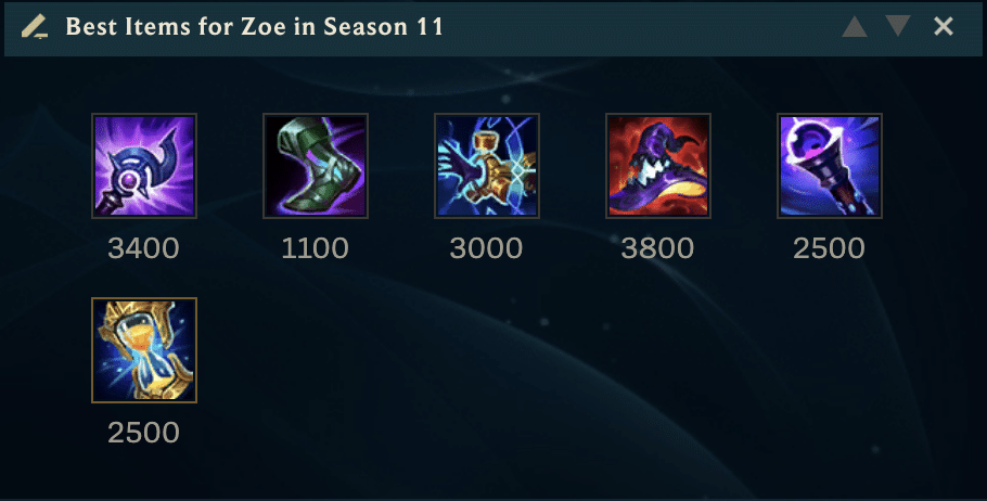 Zoe is one of those rare champions that you can play in many different ways. That's precisely what makes her so much fun to play. Here are the best items for Zoe in Season 11!