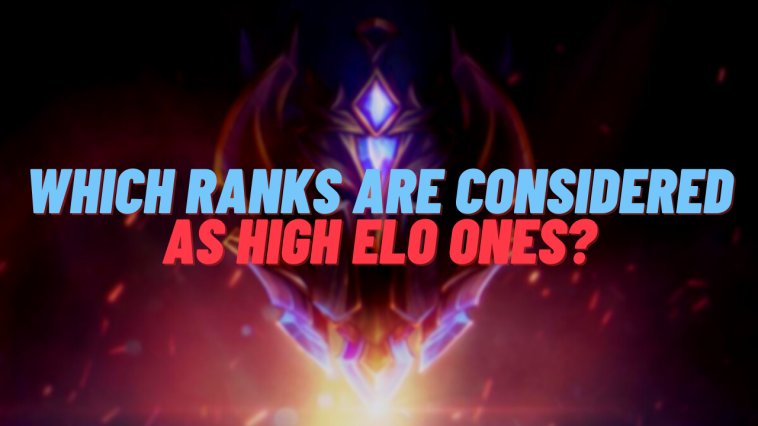 A lot of people think that only the ranks above Diamond are considered as high Elo ones, but that's not the truth...