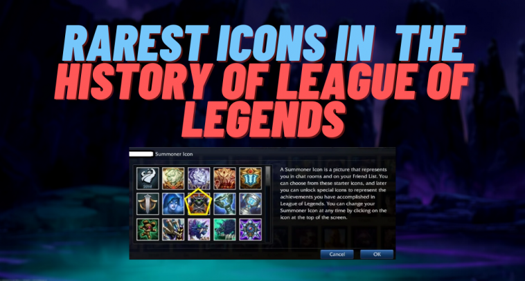 Ever since League of Legends came out, Riot Games have released a large number of icons in the game. However, there's a high chance that you have never heard, nor seen any of these icons in the game before. Here's a list of the 10 rarest icons in the history of League of Legends!