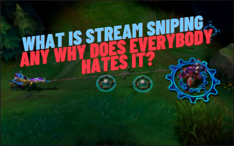 Stream sniping is a big big problem in the streaming community. Every streamer hates stream snipers because they ruin the streaming experience. Here's the definition or stream sniping and what you can do to deal against it
