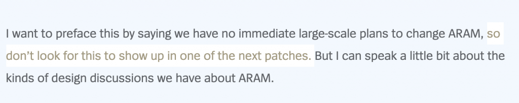"""A lot of player would like to see the ranked mode on ARAM, but, unfortunately, it will not happen, for now. Here's what Riot Games Design Officer, Jon """"IAmAWalrus"""" Moorman said:"""