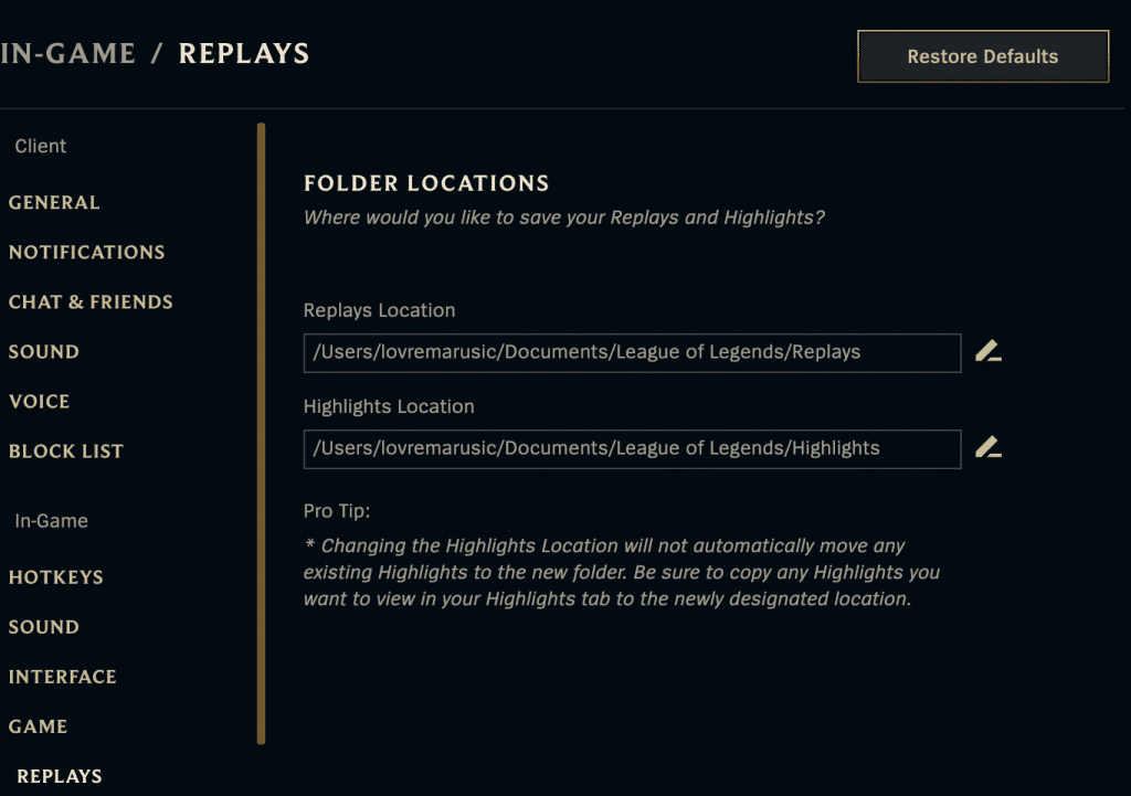 Sometimes it's kinda hard to find where is the league of legends replay folder located. Here's how you can do it.