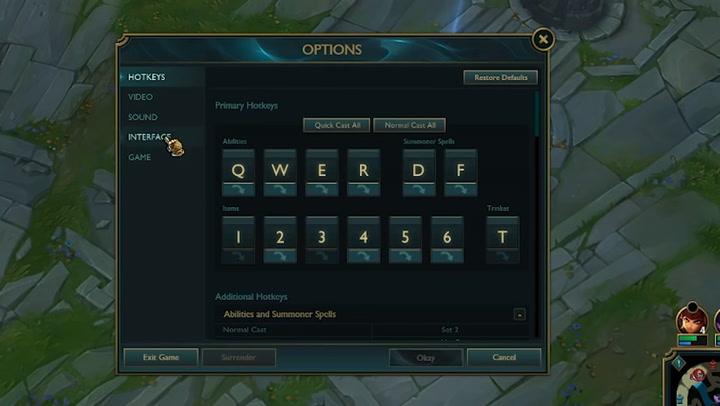 Here's how default League of Legends keyboard keys look like