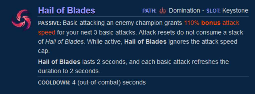 Hail of Blades can be used on pretty much all the lanes. However, it works best on ADCs.