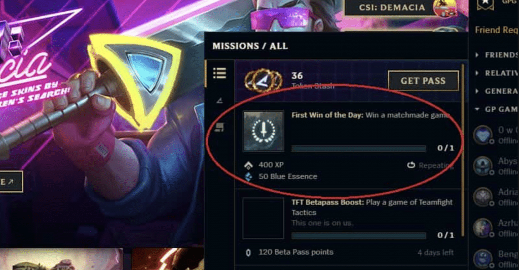 Riot Games have recently implemented a 'first win of the day' quest which resets every 24 hours. Here's all we know about the LoL daily bonus and how to get it as often as possible