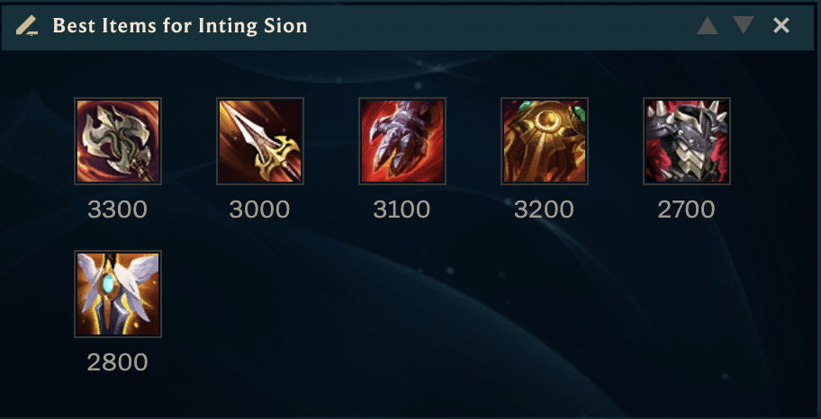 Inting Sion hasn't been a very popular pick lately, but that doesn't mean that it doesn't work. Here's are the best items for inting Sion tactic