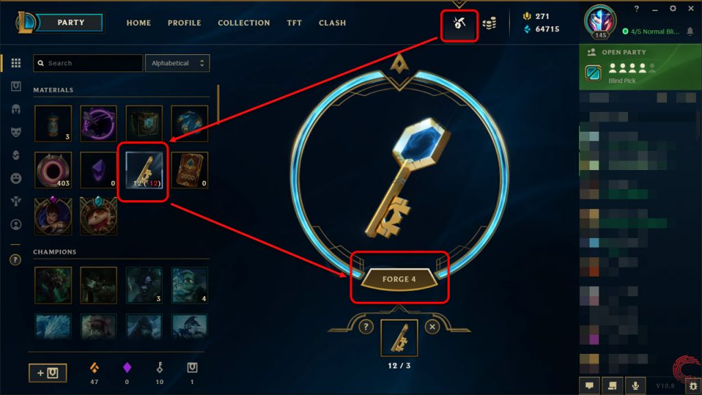 Forging a hextech key is a very important process because you won't be able to get keys without forging the fragments. Here's how to easily do it.
