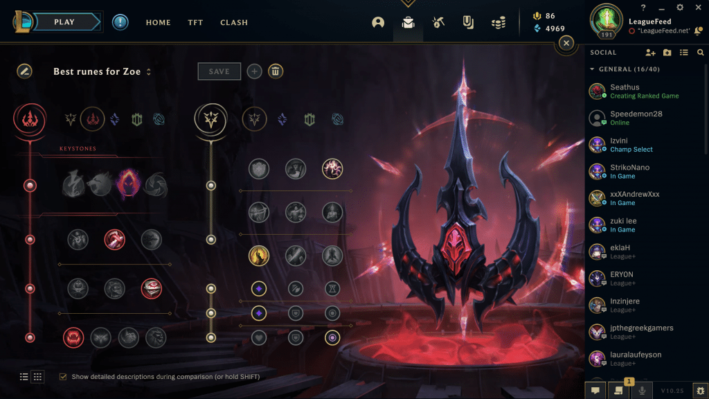 Dark Harvest is probably the best choice when it comes to runes for Zoe in ARAM. As the game goes, you'll get more and more powerful, and you'll be able to one-shot pretty much anyone in the late game.