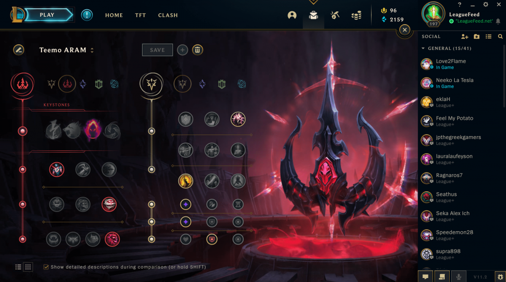 Teemo can be played in multiple different ways, but we feel like that the Dark Harvest keystone is the perfect rune for him in ARAM. Since ARAM is a fact-paced game mode, Teemo will be able to proc the Dark Harvest very fast, which will turn him in an unstoppable beast!