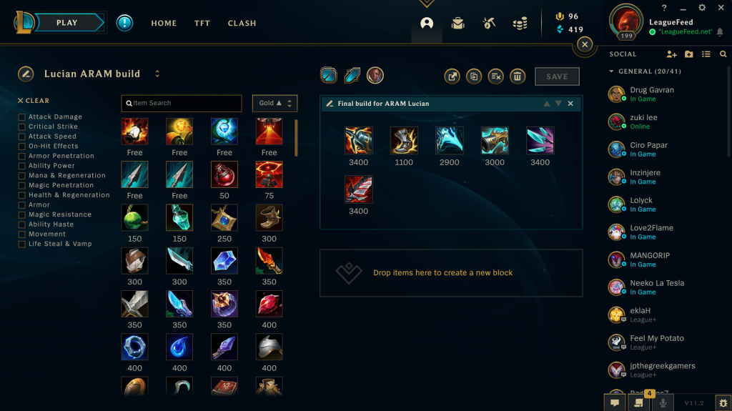 Kraken's is probably the best item on Lucian as it stacks well with his passive and Press the Attack rune, which allows you to melt your opponents in the blink of an eye! After you've bought Kraken's, you should (in most cases) go for Essence's Reaver as it's one of the most powerful items in Season 11.