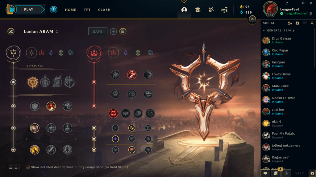 You should always play Lucian with Press the Attack runes, just like on Summoners Rift. These are always the best runes for Lucian because he can proc the PTA very quickly thanks to his passive. Below the image we've explained all the best runes for Lucian in ARAM. With these runes you'll be able to carry your ARAM games!