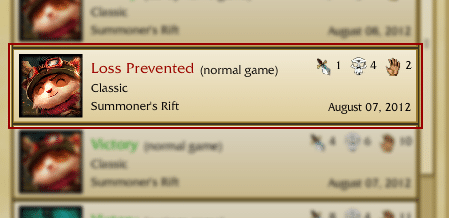 There are a couple of different reasons why a game can be marked as a 'loss prevented' if you lose it. In this article we've covered everything there is to cover about the loss prevented in League of Legends. If you've been playing League for some time now, it's highly likely that you've come across of loss prevented a couple of times now!
